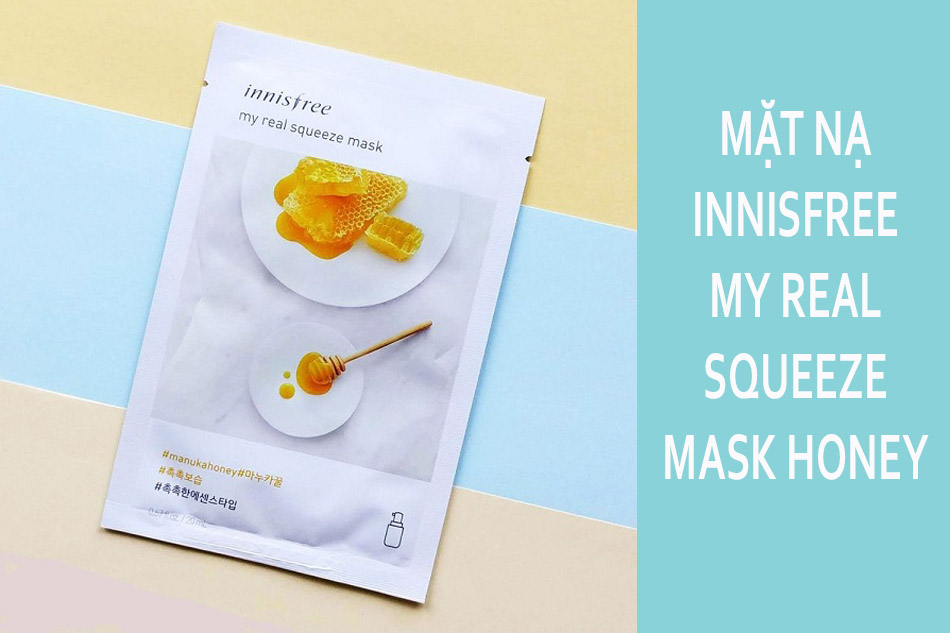Mặt nạ giấy Innisfree My Real Squeeze Mask Manuka Honey - Mật ong
