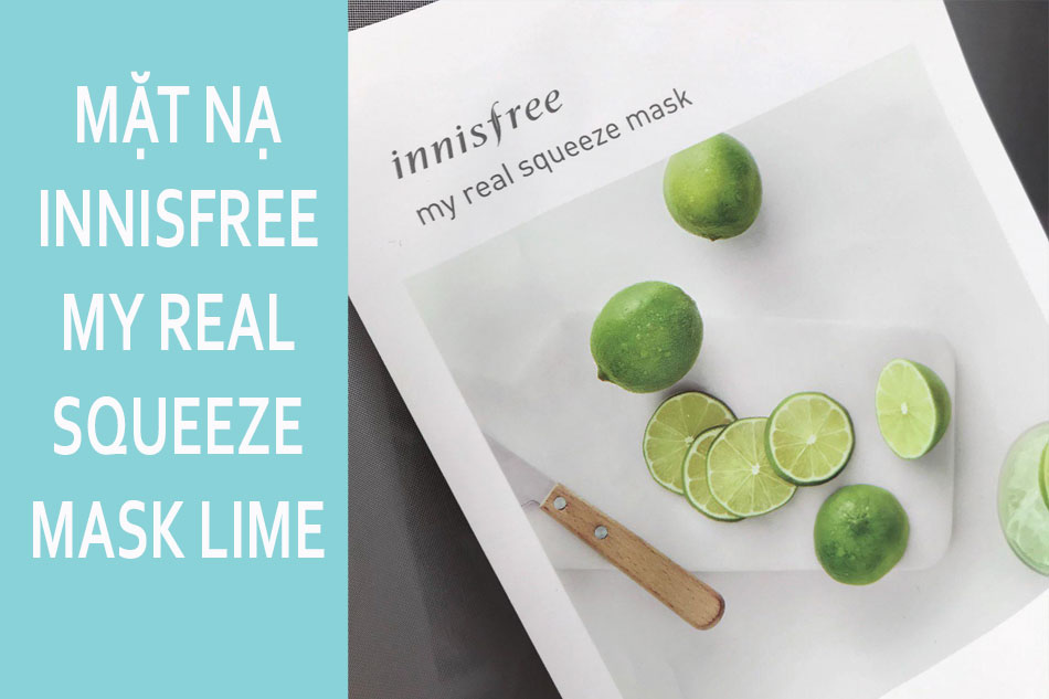Mặt nạ giấy Innisfree My Real Squeeze Mask Lime - Chanh