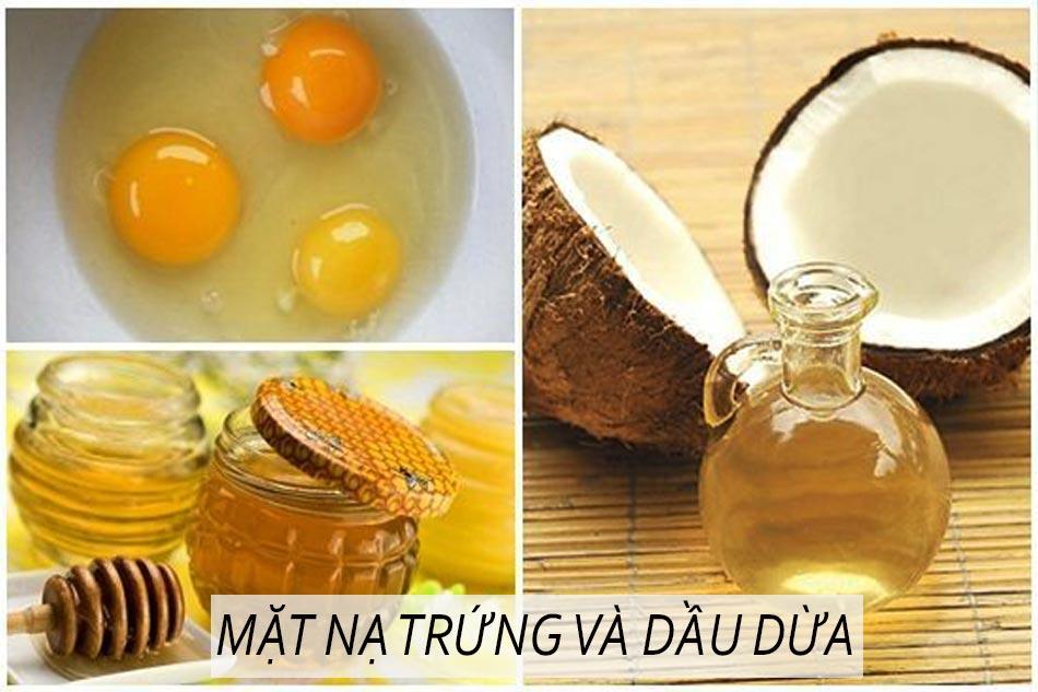 Làm trắng da bằng mặt nạ trứng gà và dầu dừa
