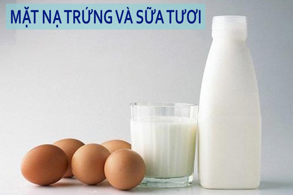 Mặt nạ lòng đỏ trứng gà và sữa tươi làm trắng da