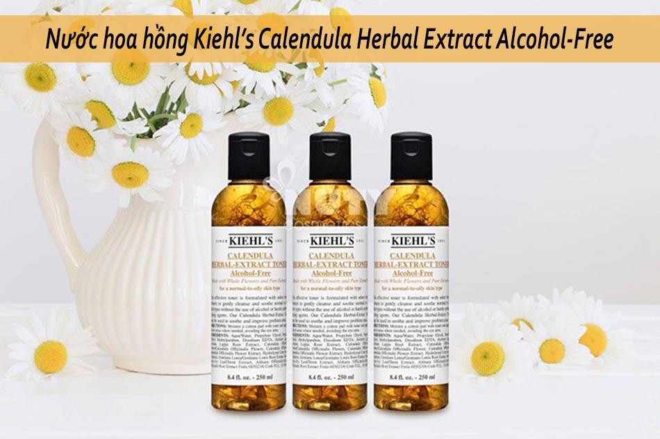 Nước hoa hồng Kiehl's Calendula Herbal Extract Alcohol-Free dành cho da hỗn hợp thiên dầu
