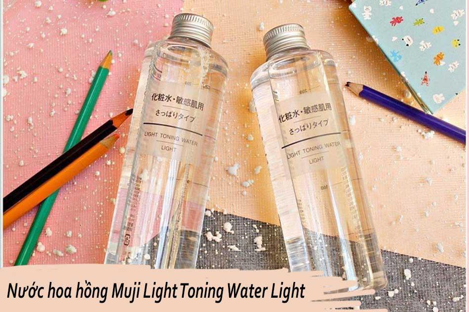 Nước hoa hồng cho da hỗn hợp nhạy cảm của Nhật Muji Light Toning Water Light