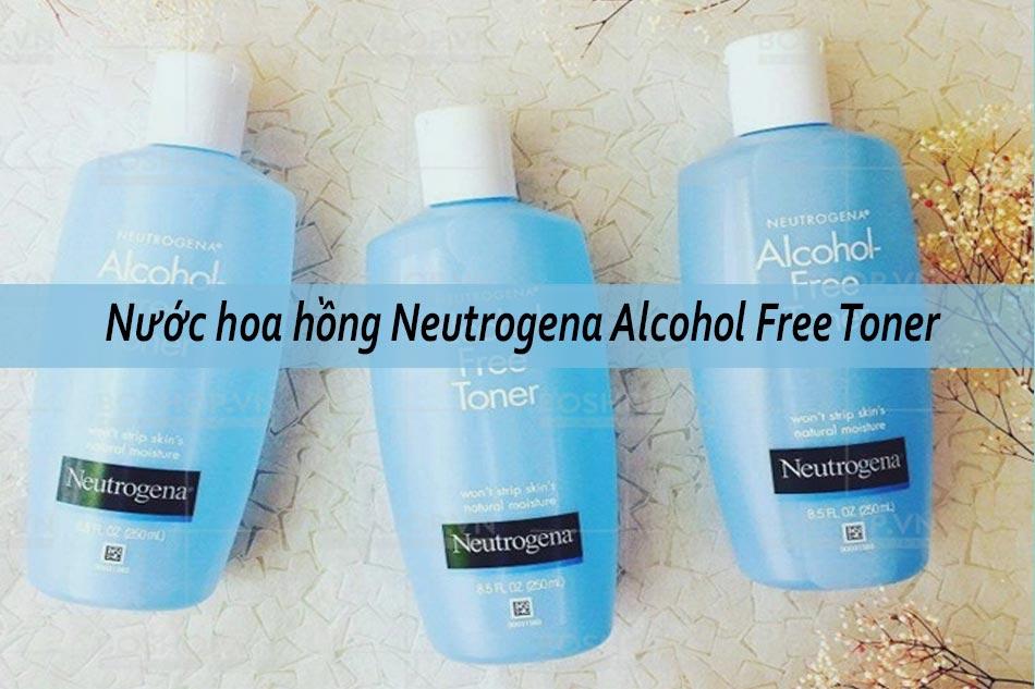 Nước hoa hồng cho da hỗn hợp thiên khô Neutrogena Alcohol Free Toner