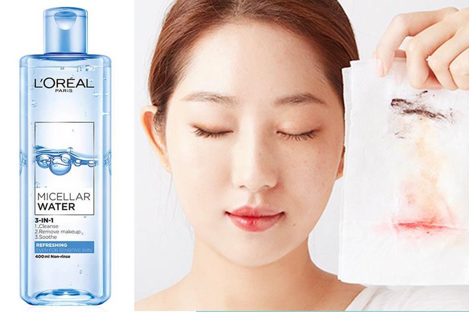 Nước tẩy trang dành cho da dầu mụn nhạy cảm L'Oreal Micellar Water 3-in-1 Refreshing Even For Sensitive Skin