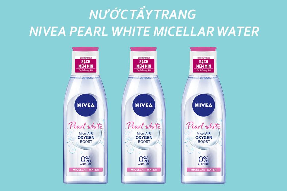 Nước tẩy trang giá bình dân Nivea Pearl White Micellar Water