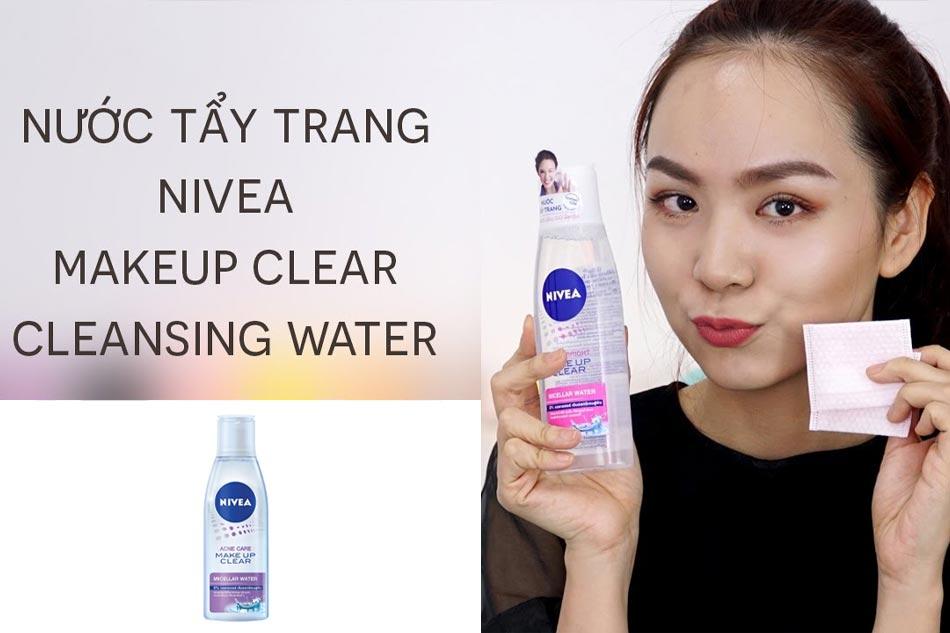 Nước tẩy trang Nivea Acne Care Makeup Clear Micellar Water cho da nhạy cảm