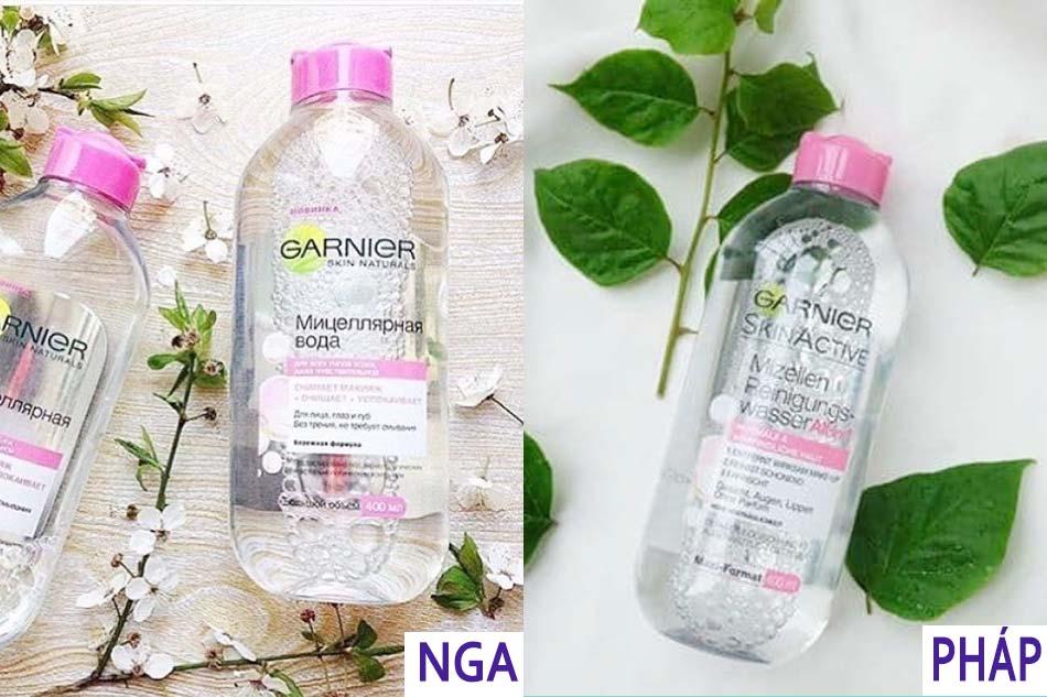 Nước tẩy trang Garnier Hồng dành cho da nhạy cảm