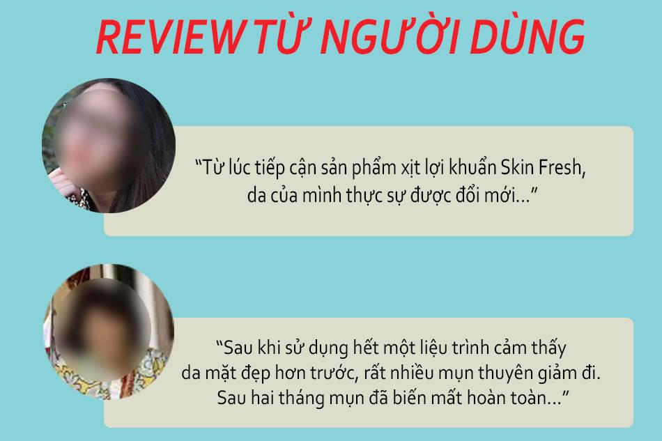 Review Skin Fresh xịt lợi khuẩn trên Webtretho