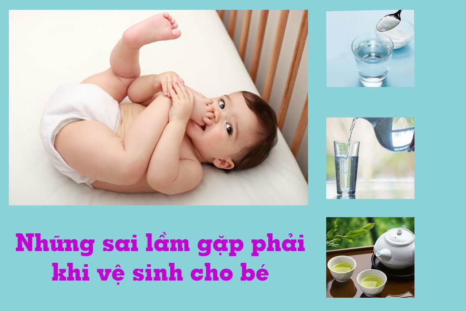 Những sai lầm có thể mắc phải khi vệ sinh vùng kín cho bé gái sơ sinh