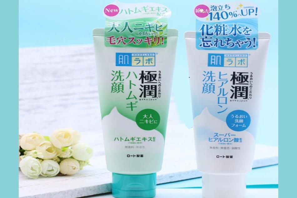 Sữa rửa mặt cho da khô Hada Labo Gokujyun Face Wash