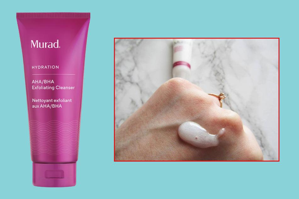 Sữa rửa mặt Murad AHA/BHA Exfoliating Cleanser màu tím