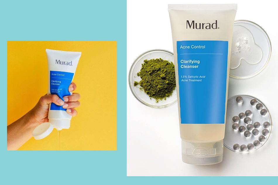 Sữa rửa mặt cho da dầu mụn nhạy cảm Murad Clarifying Cleanser màu xanh