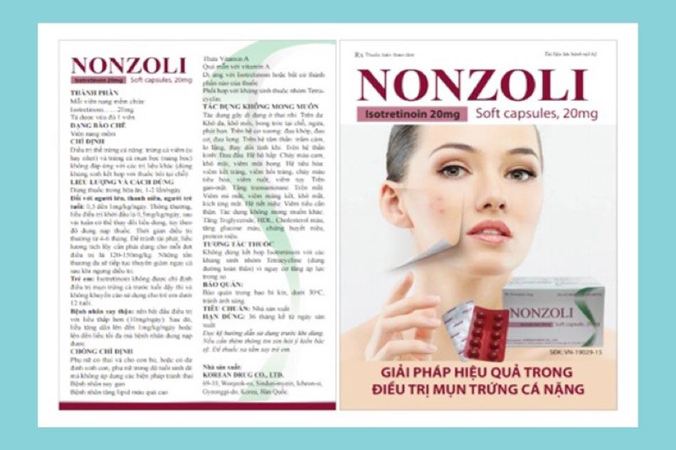 Thuốc trị mụn Nonzoli có tốt không?