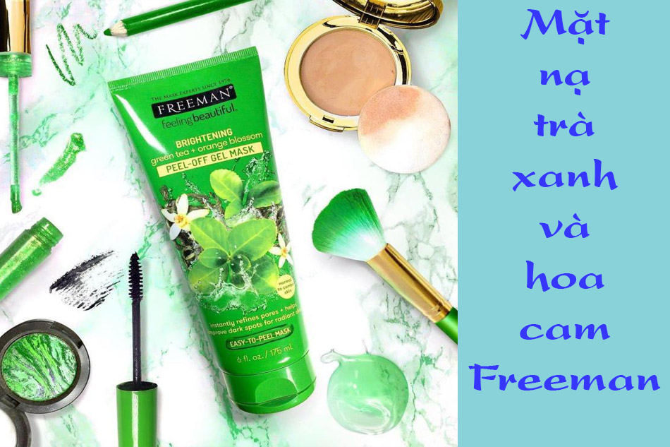 Mặt nạ Freeman Brightening Green Tea + Orange Blossom Peel – Off Gel Mask