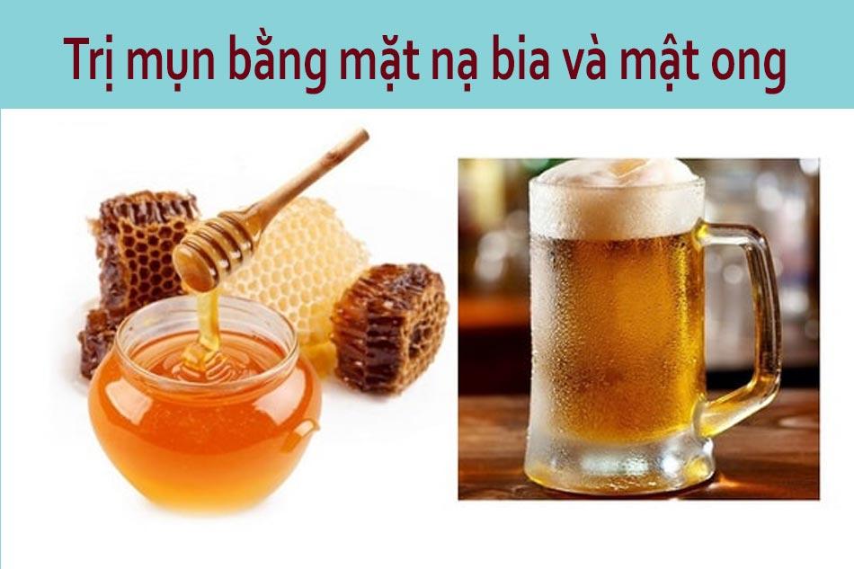 Trị mụn bằng mặt nạ bia và mật ong cho da khô