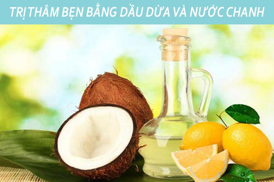 Trị thâm vùng háng bằng dầu dừa và nước chanh