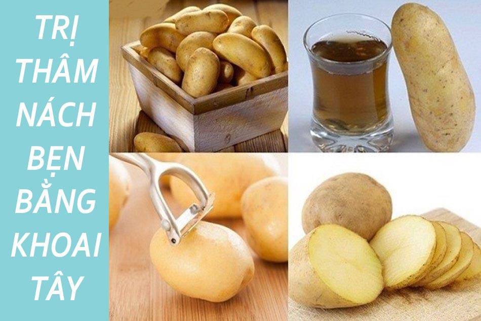 Cách trị thâm nách bẹn bằng khoai tây