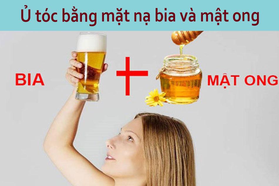 Ủ tóc bằng mặt nạ bia và mật ong