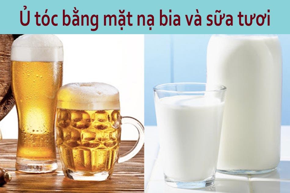 Ủ tóc bằng mặt nạ bia và sữa tươi