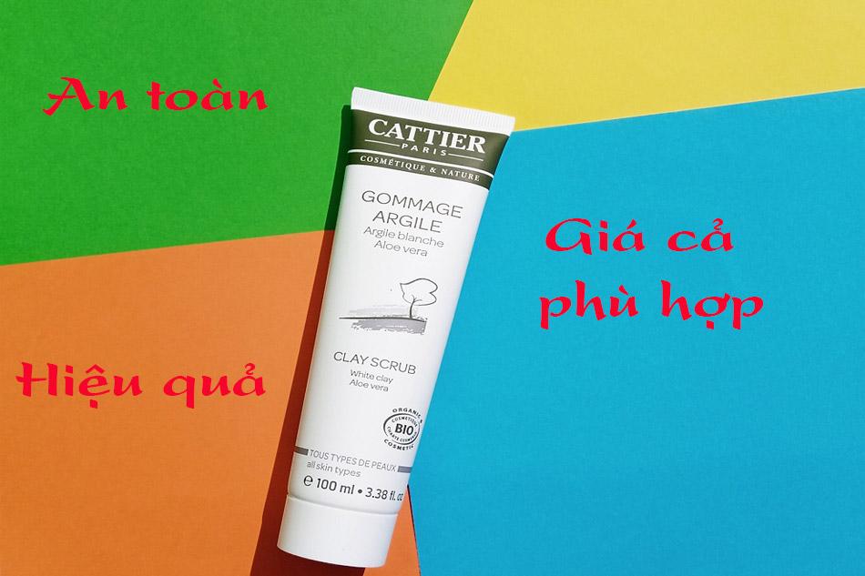 Tẩy da chết Cattier có tốt không?