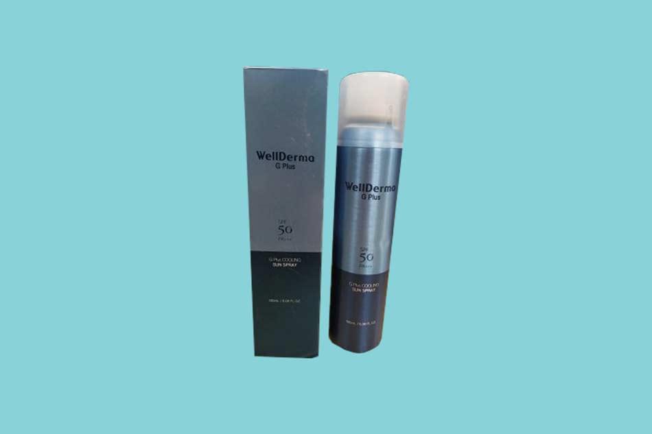 Tác dụng của xịt chống nắng Wellderma