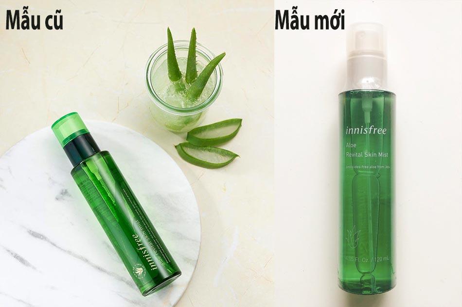 Xịt khoáng cho da khô Innisfree Aloe Revital Skin Mist