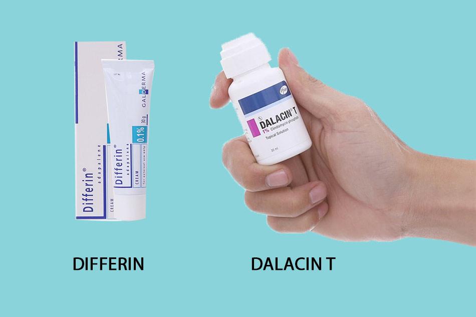 So sánh thuốc trị mụn Dalacin T và Differin