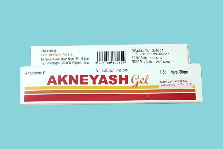 Thành phần của thuốc Akneyash Gel 30g
