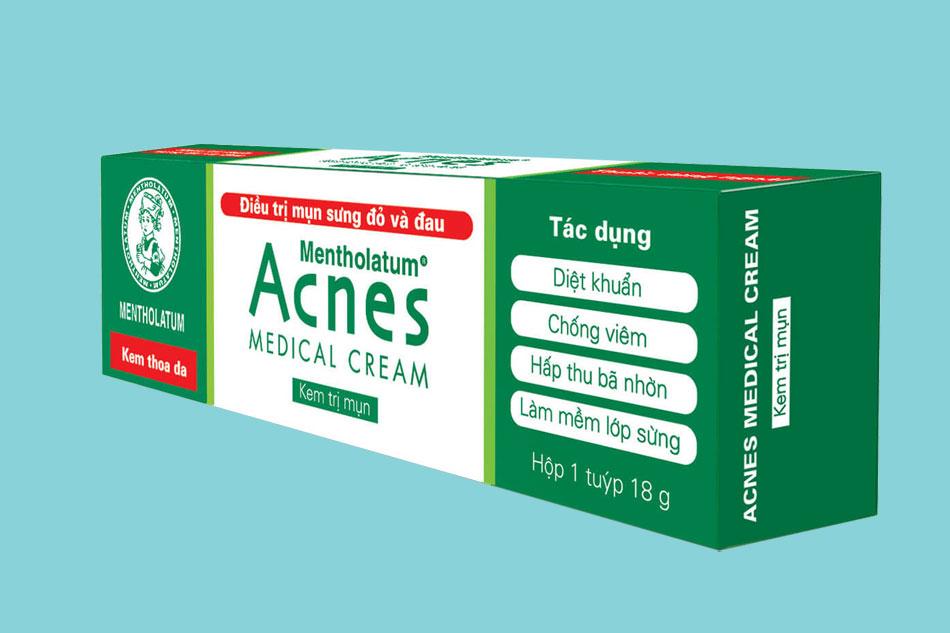 Kem trị mụn Acnes Medical Cream có tốt không?