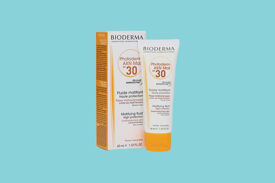 Kem chống nắng chuyên biệt Bioderma AKN Mat SPF 30 cho da dầu