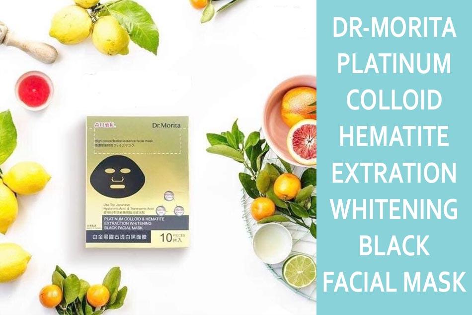 Mặt nạ Dr-Morita Platinum Colloid & Hematite Extration Whitening Black Facial Mask