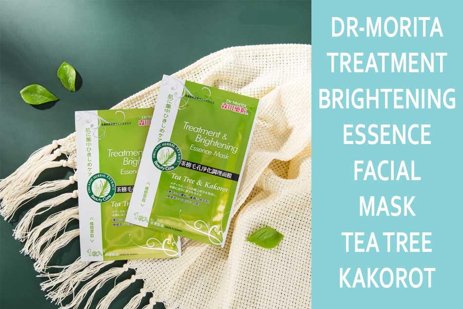Mặt nạ trị mụn Dr-Morita Treatment & Brightening Essence Facial Mask – Tea Tree & Kakorot
