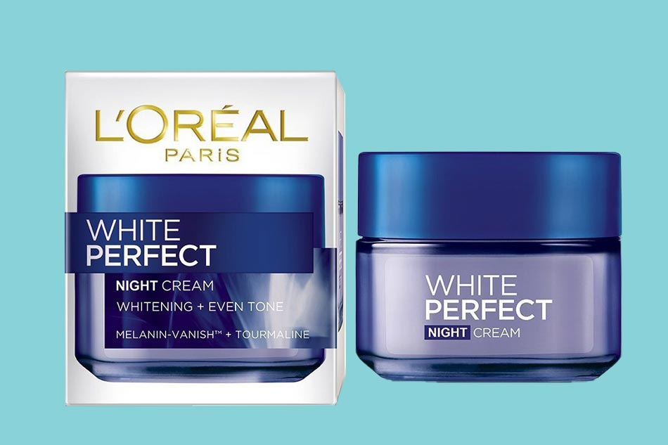 Kem dưỡng trắng cho da dầu ban đêm L'Oreal Paris White Perfect Night Cream