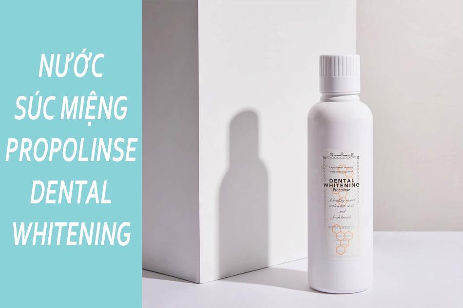 Nước súc miệng Dental Whitening Propolinse màu trắng