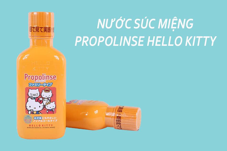 Nước súc miệng Propolinse cho bé Hello Kitty 400ml