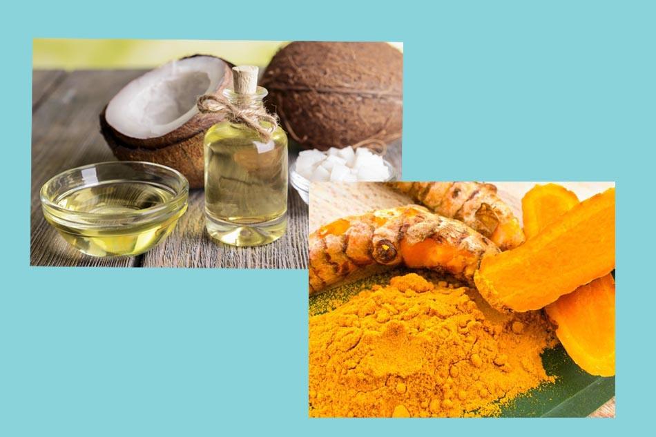 Dưỡng da sau sinh bằng bột nghệ và dầu dừa