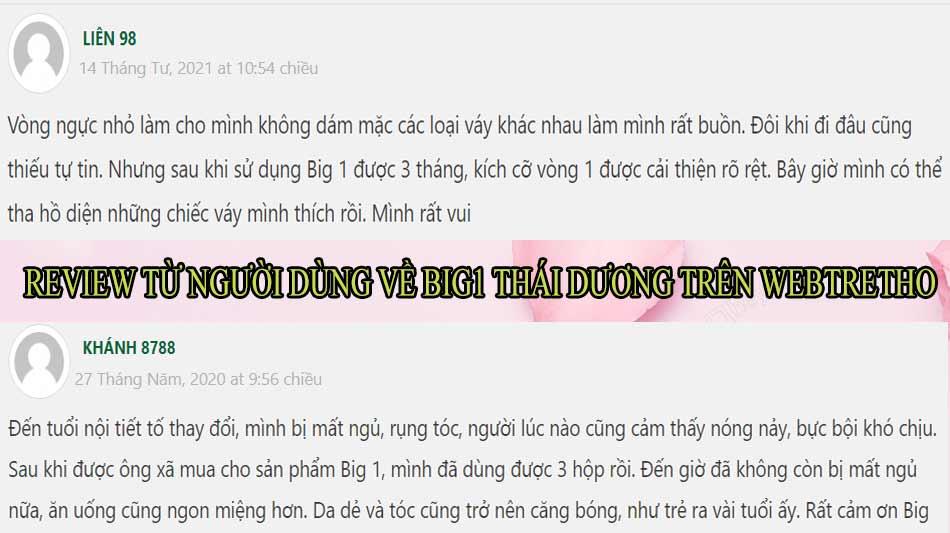 Review từ người dùng về Big1 Thái Dương trên Webtretho