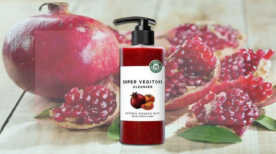 Sữa rửa mặt rau củ Super Vegitoks Cleanser dòng màu đỏ