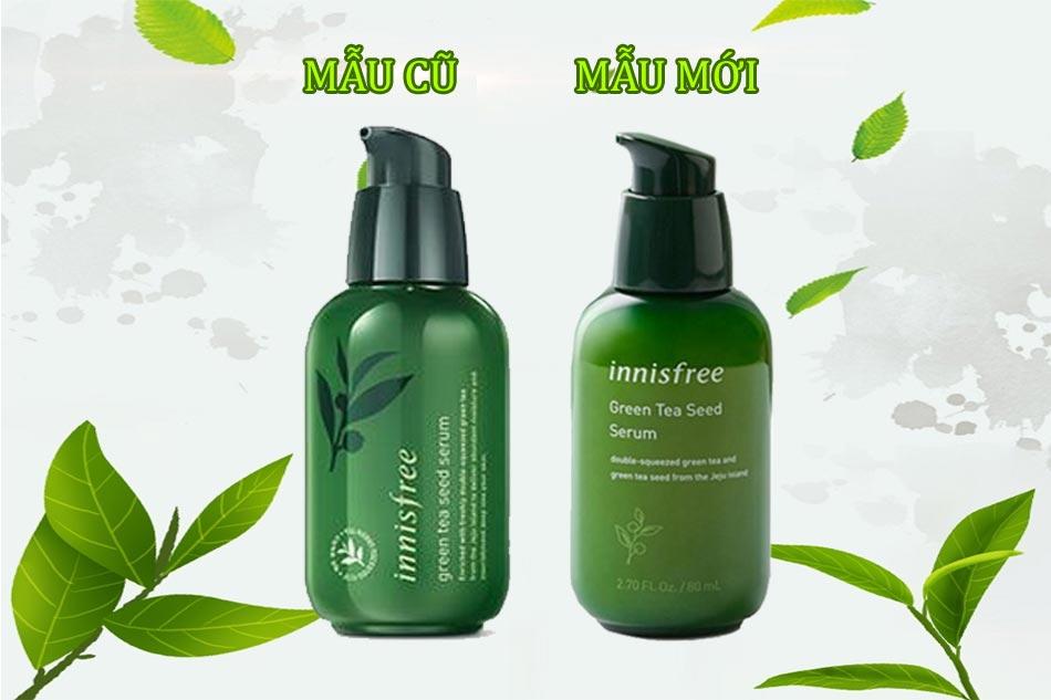 So sánh mẫu mới và mẫu cũ của Innisfree green tea seed serum