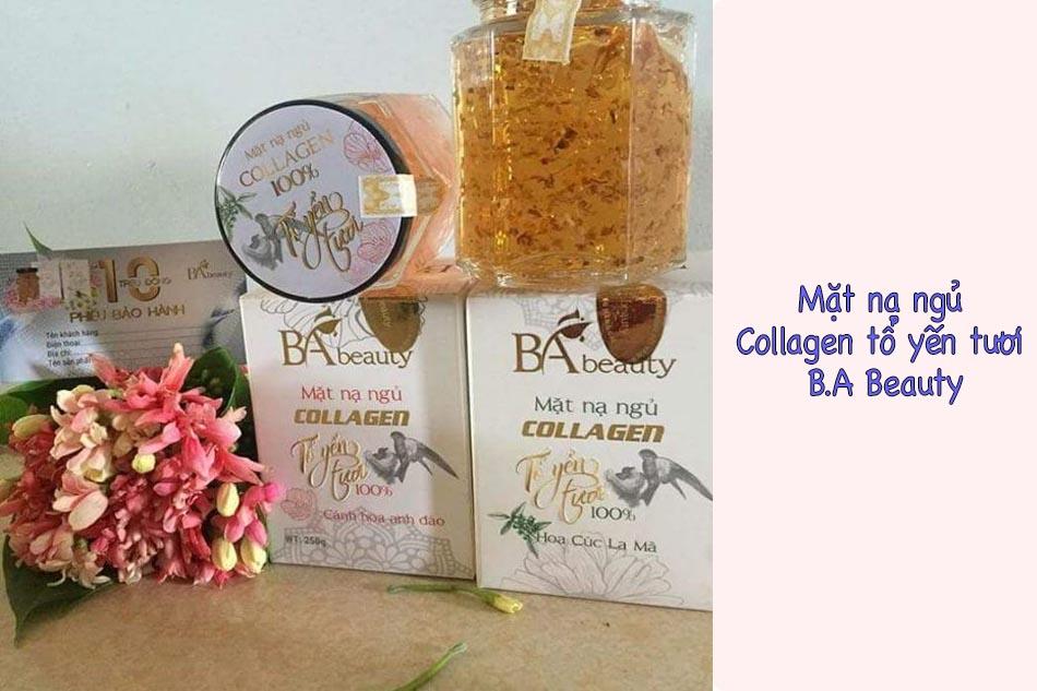 Mặt nạ ngủ Collagen tổ yến tươi B.A Beauty