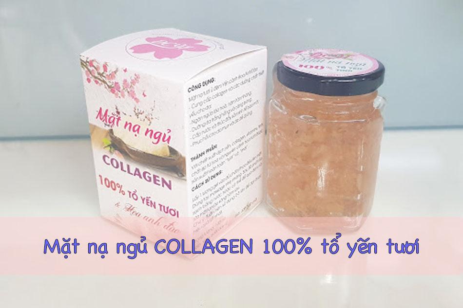 Mặt nạ ngủ Collagen 100% tổ yến tươi tinh chất hoa anh đào