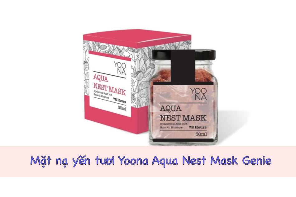 Mặt nạ yến tươi Yoona Aqua Nest Mask Genie