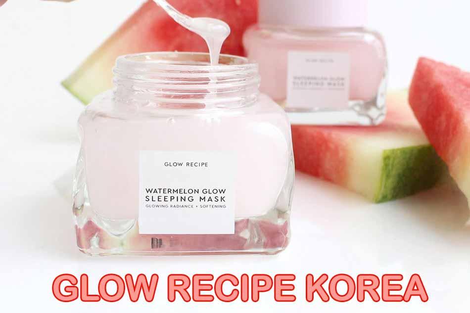 Mặt nạ ngủ dưa hấu Glow Recipe của Hàn Quốc
