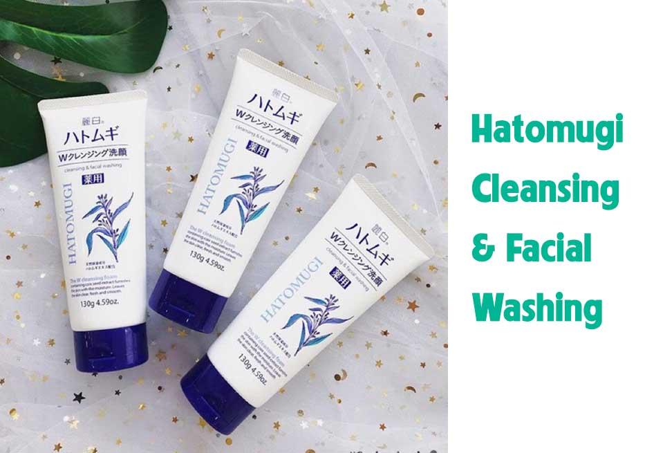 Sữa rửa mặt Hatomugi Cleansing & Facial Washing
